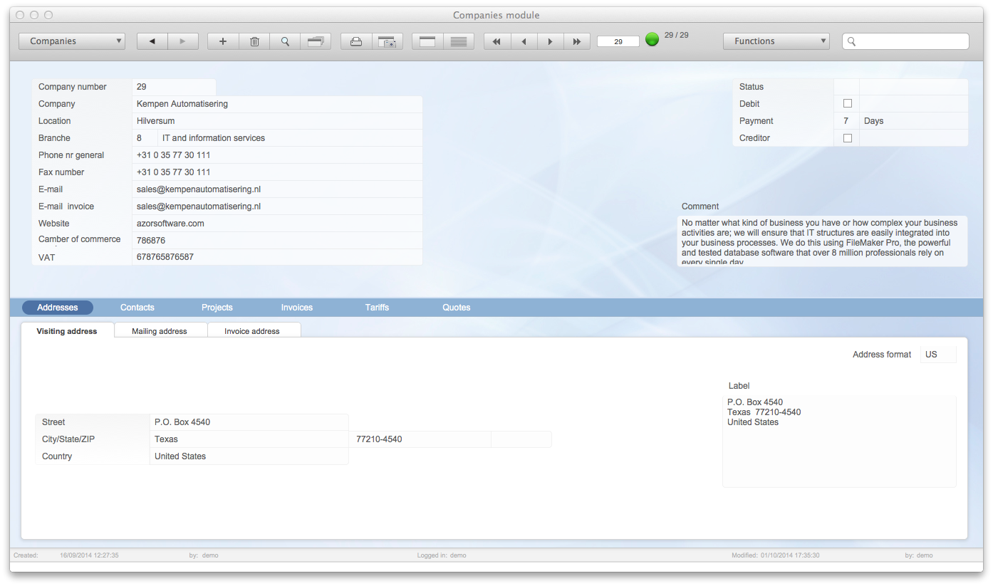 CRM software for Mac
