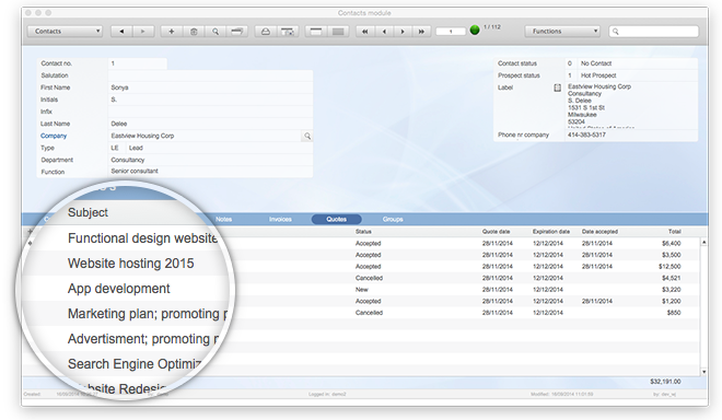 FileMaker invoice